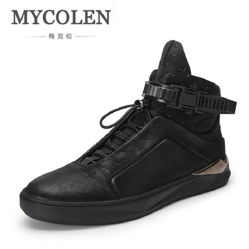 MYCOLEN New Fashion Brand Shoes Men High Top Shoes Personality Height Increasing Men's Casual Shoes Male Black Mannen Schoenen gram epos men casual shoes top quality men high top shoes fashion breathable hip hop shoes men red black white chaussure hommre