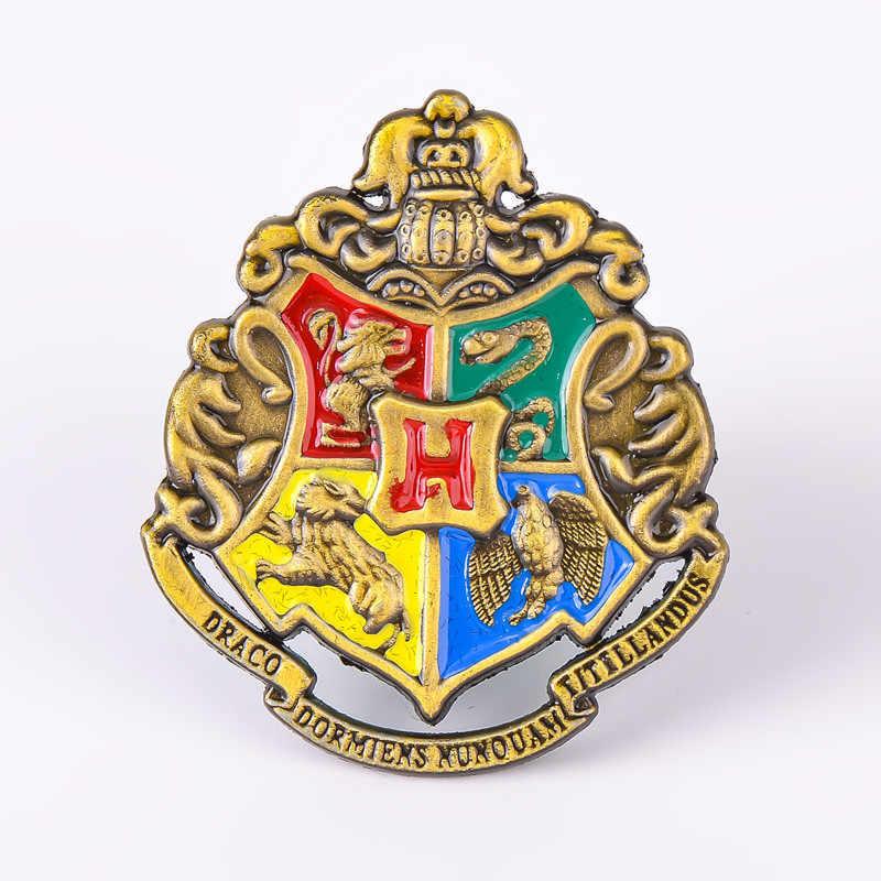 1pcs Scuola di Hogwarts Distintivo Spilli Spilla Grifondoro Corvonero Serpeverde Tassorosso Spille Chestpin Puntelli Cosplay