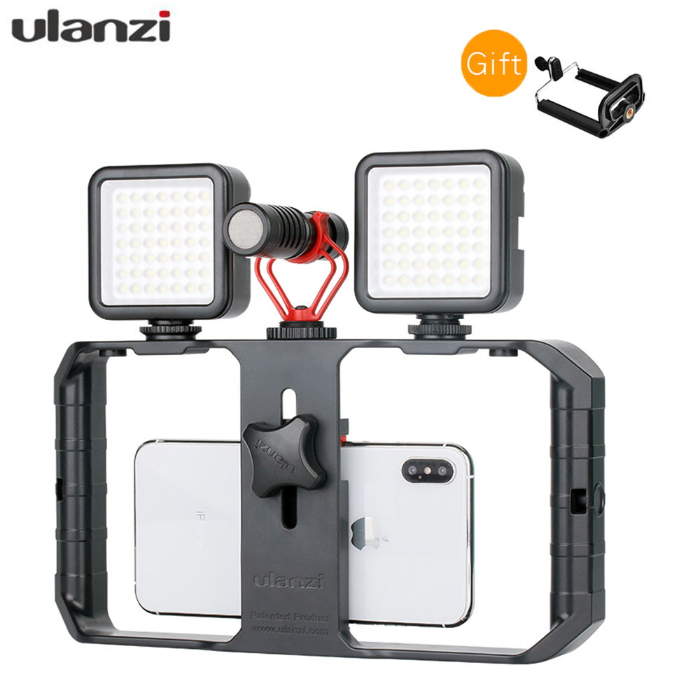 Ulanzi U-rig Pro Smartphone Video Rig Mobile Vlogging Filmmaking Stabilizer With 1/4 Screw Cold Shoe Mount For Iphone Xiaomi