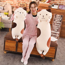 Cute Plush Cat Toys Sofa Cushion Stuffed Animal Cat Toy Soft Doll for Children Pusheen Plush Doll Kids Birthday Gift Xmas(China)