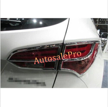 Tail Chrome Rear Light Lamp Ajuste de La Cubierta Para Hyundai Santa Fe IX45 2013 2014 5 asientos