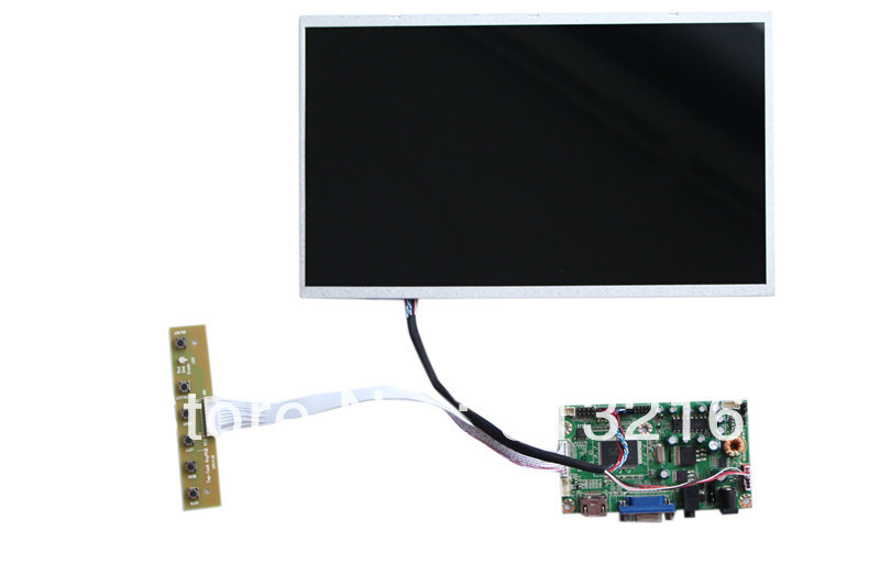 HDMI+VGA +Audio LCD  board +11.6 inch panel with 1280*800 +LVDS cable +OSD keypad with cable vga 2av revering driver board 8inch 800 600 lcd panel ej080na 05b at080tn52