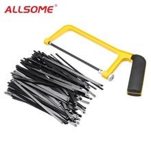 ALLSOME 6 インチ 150 ミリメートル鋸刃プラスチックハンドルミニ鋸フレーム弓ラック木工用 HT2416 2417 +
