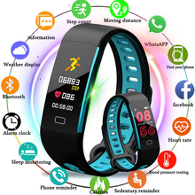 LIGE 2018 New Men And Women Sport Smart Bracelet Fitness Tracker Pedometer OLED Color Touch Screen watch PK mi band 3 +Box