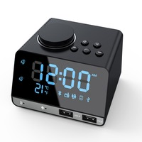 4.2 Inch Radio Bluetooth Speaker with Clocks Dual USB Charging Port AUX Card Play Thermometer Kit Radio