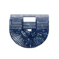 Bag for Women 2019 New Acrylic Handbag Holiday Beach Hollow Bag Clutch Bag Acrylic Basket Bolsa Feminina