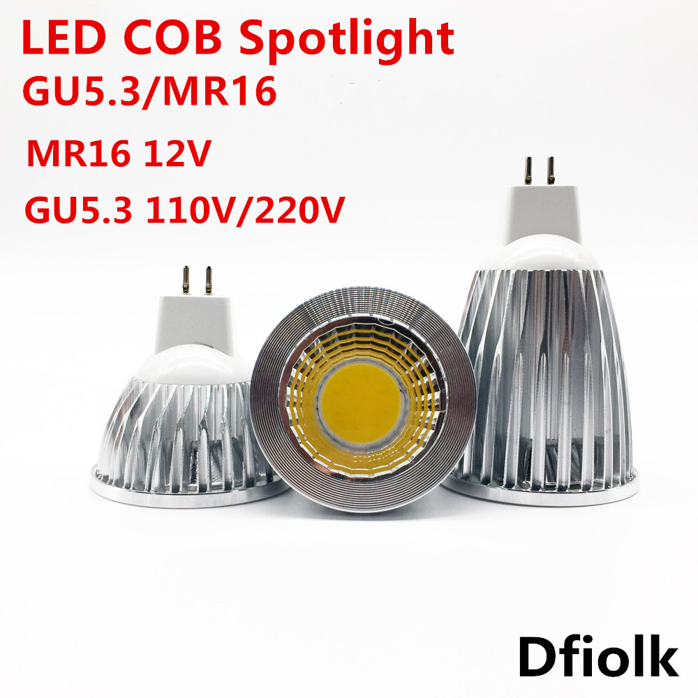 1 PCS High Power LED Lamp MR16 9W 12W 15W 12 V Dimbare Led Spots Warm /Cool Wit MR16 12 V GU5.3 110 V/220 V LED Lamp