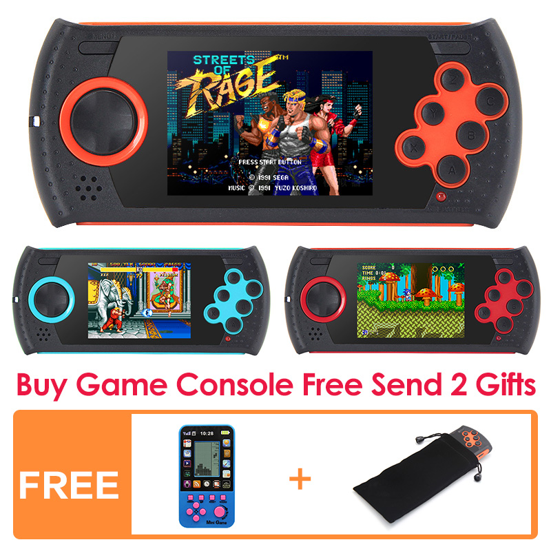 3 0 Inch 16Bit Retro Game Handheld Player for Sega Game Console Built in 1100 no