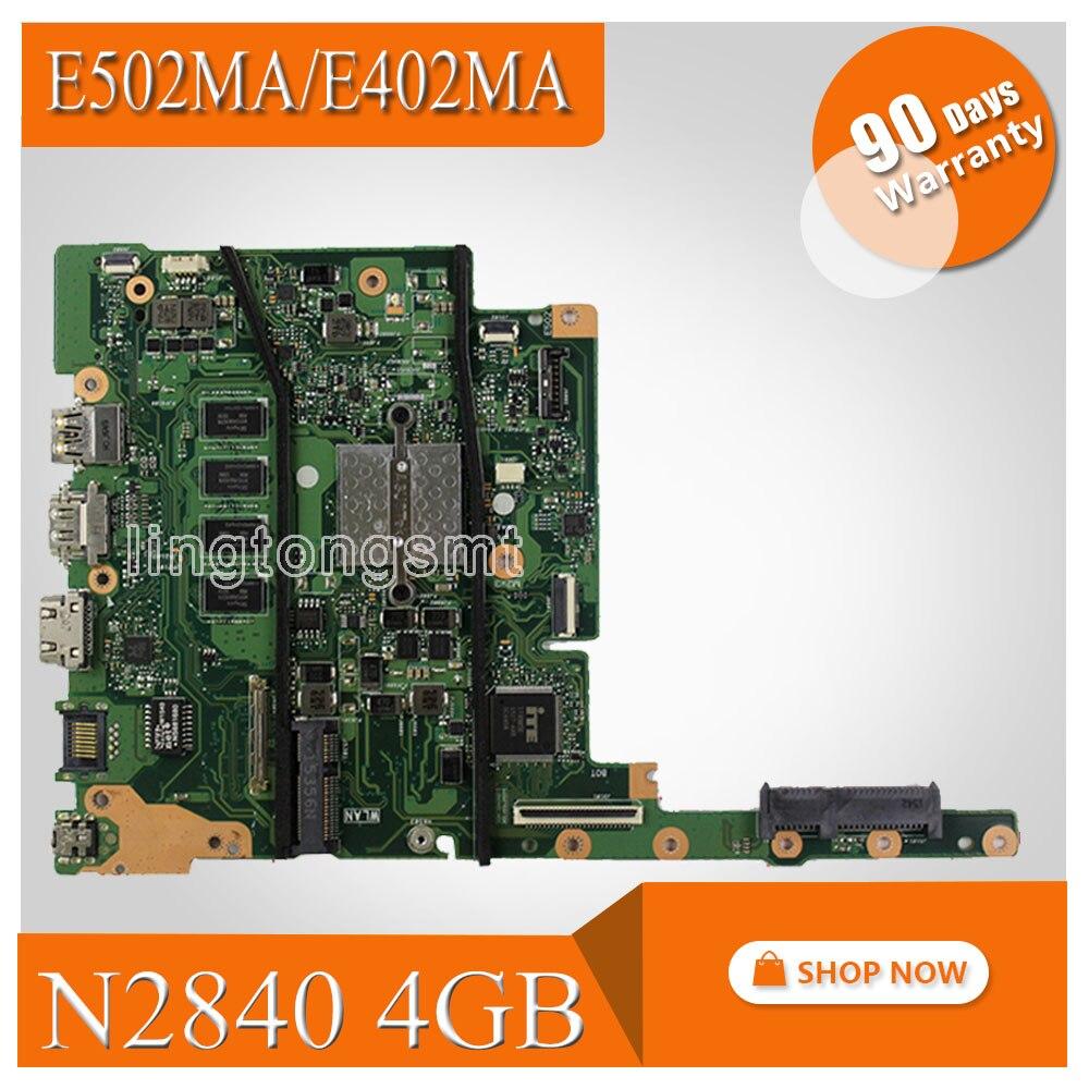 E402MA motherboard N2840 4GB Memory For ASUS E402MA E502MA Laptop motherboard E402MA mainboard E402MA motherboard test