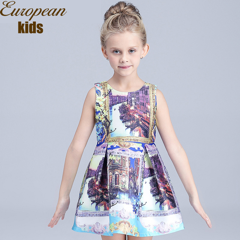 Girls Summer Dress 2016 Designer Baby Brand Cotton Princess Kids Clothes Flower Children Clothing - ChildrenDlor Store store