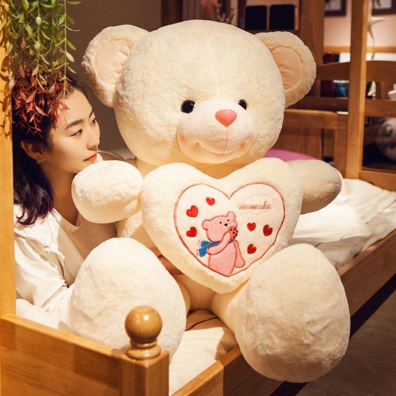 70cm 90cm bear plush toys cute teddy bear hold heat soft doll girls toy pink birthday Christmas gift for girlfriend