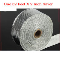 2 Inch x32 Feet ALUMINIZED motorcycle automobile exhaust insulating warp header warp exhaust pipe warp with high quality