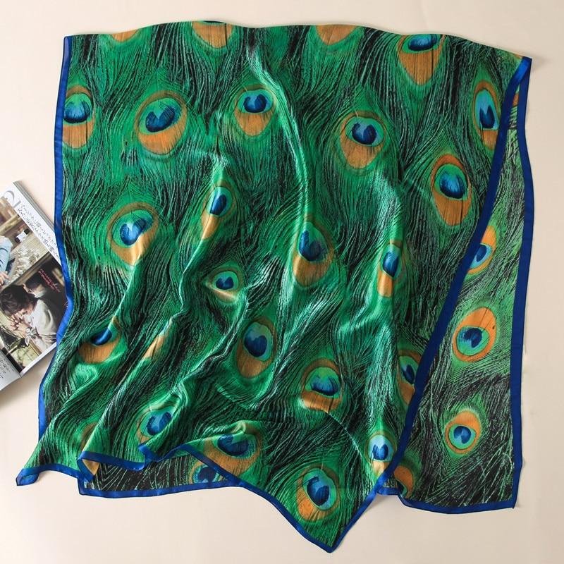 Wholesale Women Scarf Fashion Print Silk Scarves Lady Shawls And Wraps Bandana Summer Pashmina Beach Stoles Hijab