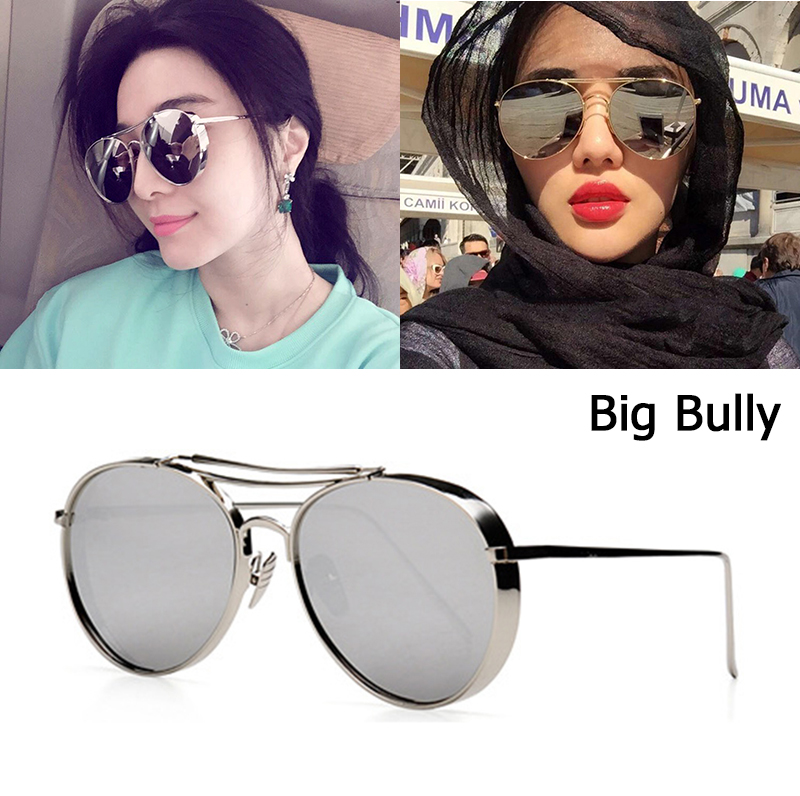 JackJad 2018 új divat nagy bully repülési stílus napszemüveg nők férfiak márka design vastag fém keret napszemüveg Oculos De Sol