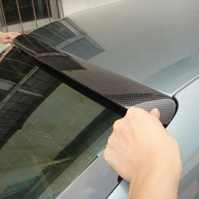 car styling A4 B9 ABT style Carbon Fiber roof spoiler wing for Audi A4 B9 2013~2015