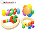 Wooden Baby Rattle Hand Bell Baby Toys Fun Jingle Educational Develop Intelligence Training Grasping Ability 0-12M