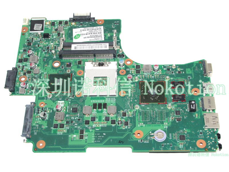 NOKOTION V000218130 Main Board For Toshiba Satellite L650 L655 Laptop Motherboard HM55 DDR3 ATI HD5470 Discrete Graphics h000042190 main board for toshiba satellite c875d l875d laptop motherboard em1200 cpu ddr3