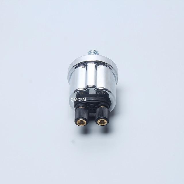 Pour VDO mètre voiture bateau bateau capteur de pression dhuile NPT1/8G WK 0-10 barre fil 10MM générateur Diesel transmetteur de pression dhuile