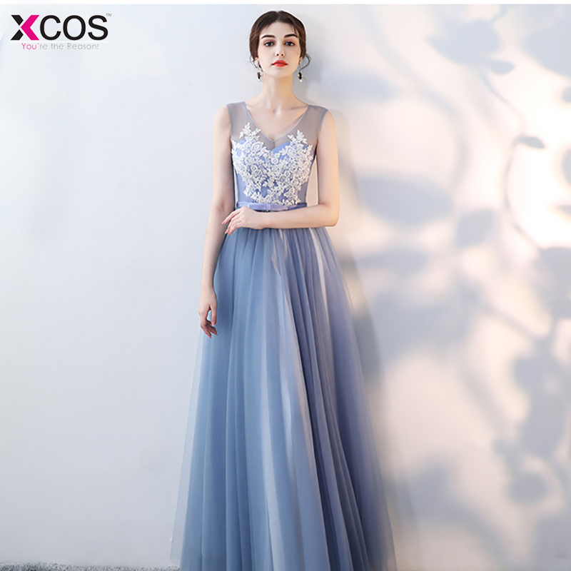 Grey Bridesmaid Dresses Tulle 2018 New Designer Beach Garden Wedding Party Formal Junior Women Ladies Vestido De Noiva Evening Dresses