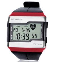 Moda Wielofunkcyjny dotykowy Monitor Tętna Zegarek, 100 M Wodoodporny Men Sport Watch, Diver Cyfrowe Zegarki Z Pudełkiem