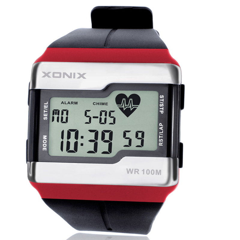 Fashion Multifunction Touch-sensitive Heart <font><b>Rate</b></font> Monitor Watch, 100M Waterproof Men Sport Watch, Diver Digital Watches With Box