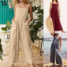 Womail bodysuit Women fashion Summer Safari Style Solid Sleeveless Long Jumpsuit