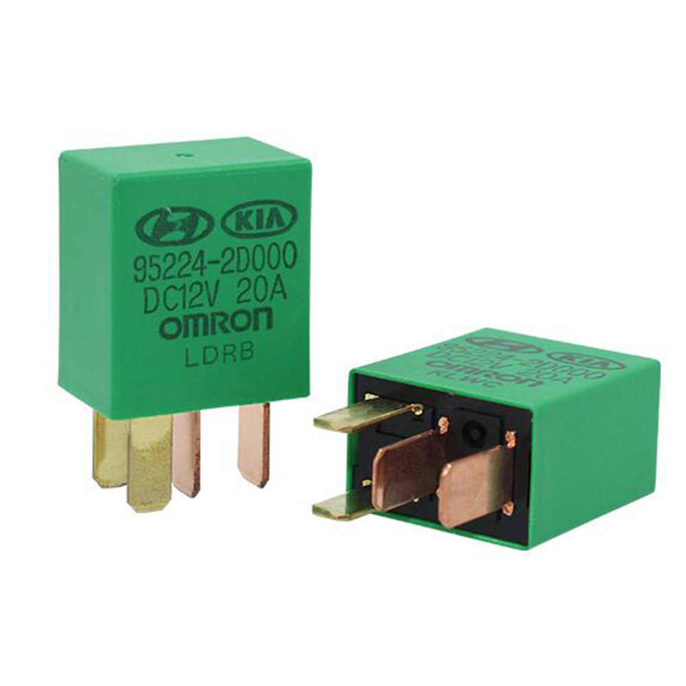 1PC Car Violet Relay for KIA 12V 20A OMRON 4 Pins Green Color Power Omron Pin Relay Wiring Diagram on