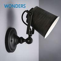 Nordic Vintage Industrial Wall Lamp Classic Black Art Wall Sconce Decorative Adjustable Loft LED Light Swing Arm Wall Lights