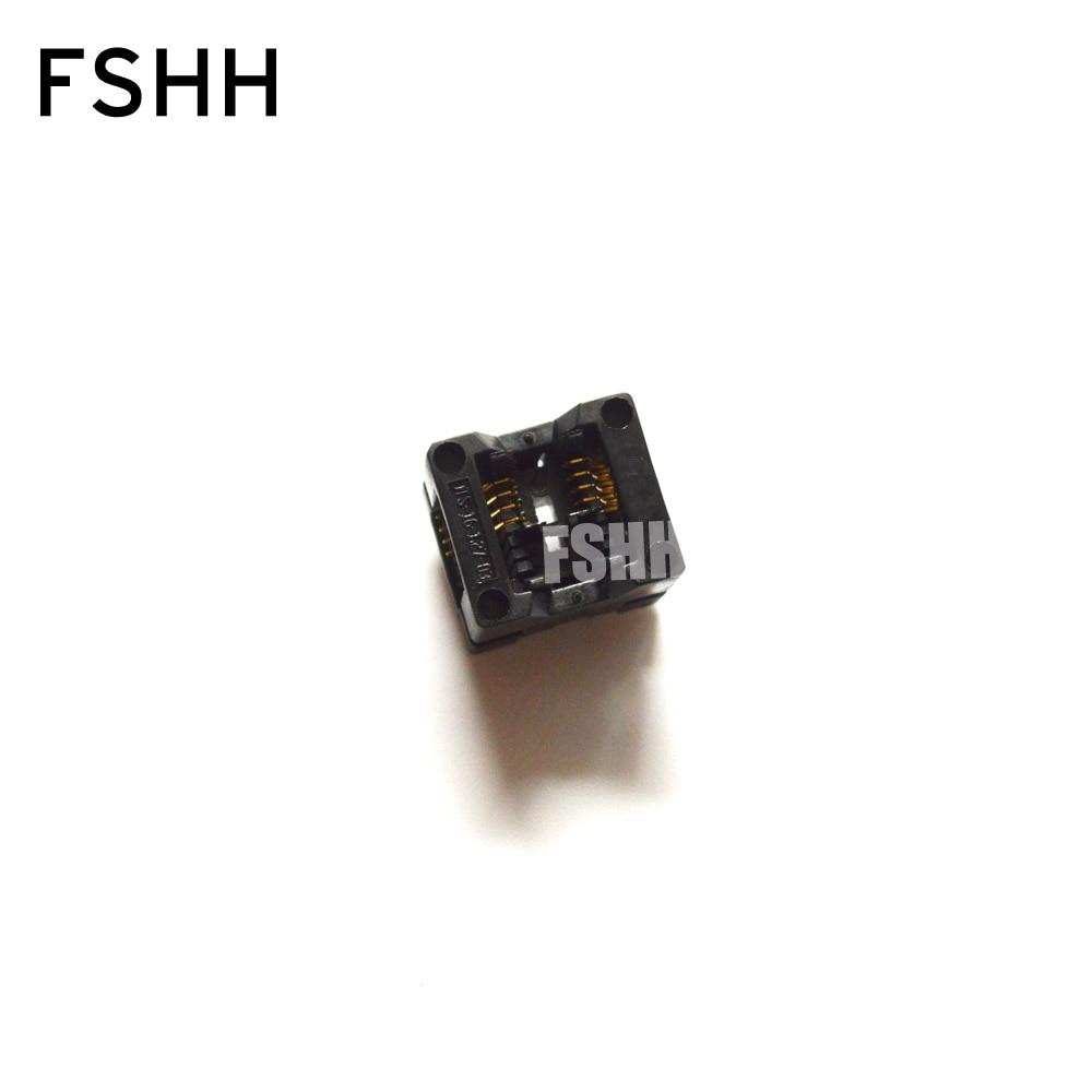 SOP8 SO8 SOIC8 Test Socket OTS-16-1.27-03 OTS-16-03 IC Socket 1.27mm Pitch 3.9mm Width