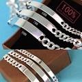 1pcs 100% 925 sterling silver bracelet Men silver Bangle 6MM 7MM 8MM width Men pure silver bracelets European silver bracelet