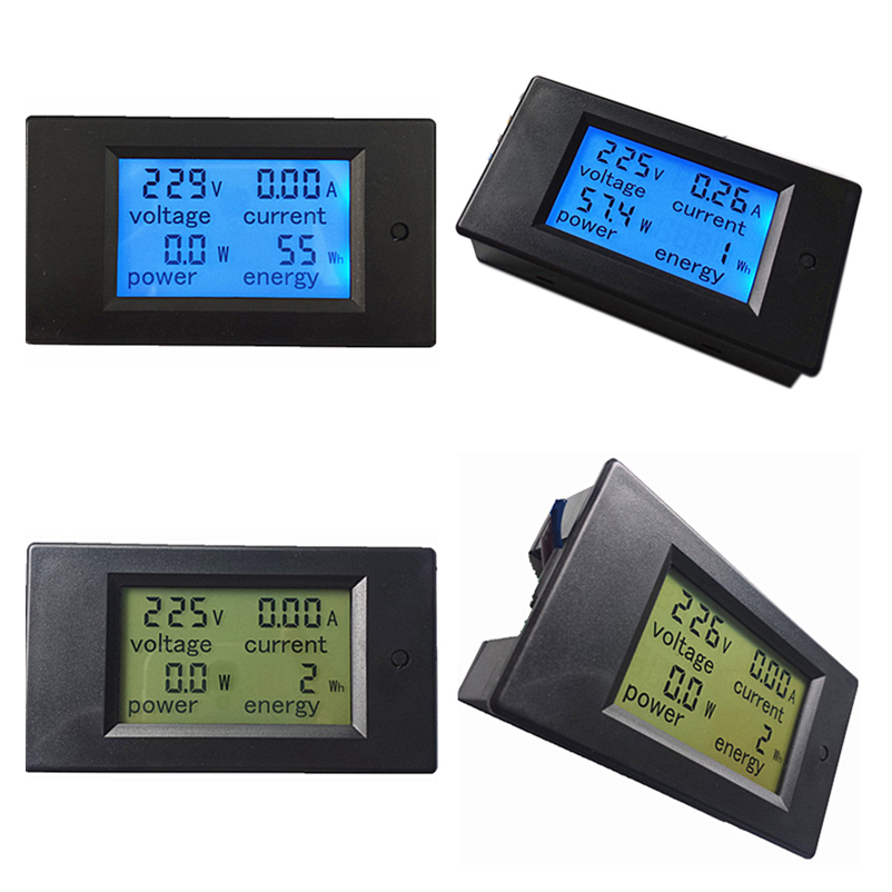 Free shipping PZEM-021 Digital AC 80-260V 20A 4IN1 voltage current power energy Voltmeter Ammeter Watt Panel Meter