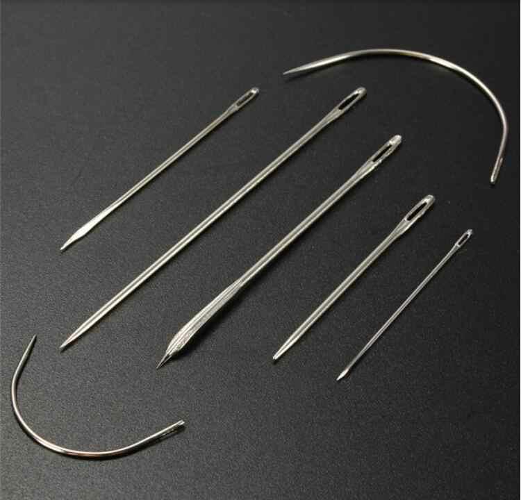 ステンレス鋼縫製針縫製ピンセット家庭用の異なるサイズ用カーペット革キャンバスホームdiy工芸7ピース/セット