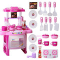 A Set Children Kids Pretend Play Kitchen Cooking Girl Toy Cooker Play Set Birthday Gift