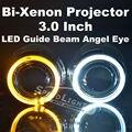 Speedlight Q5 Perfeito Carro D2S HID lente Do Projetor com Angel eyes 3.0 polegada Bi Xenon lente do projetor Apto para H4-3 Luz Do Carro