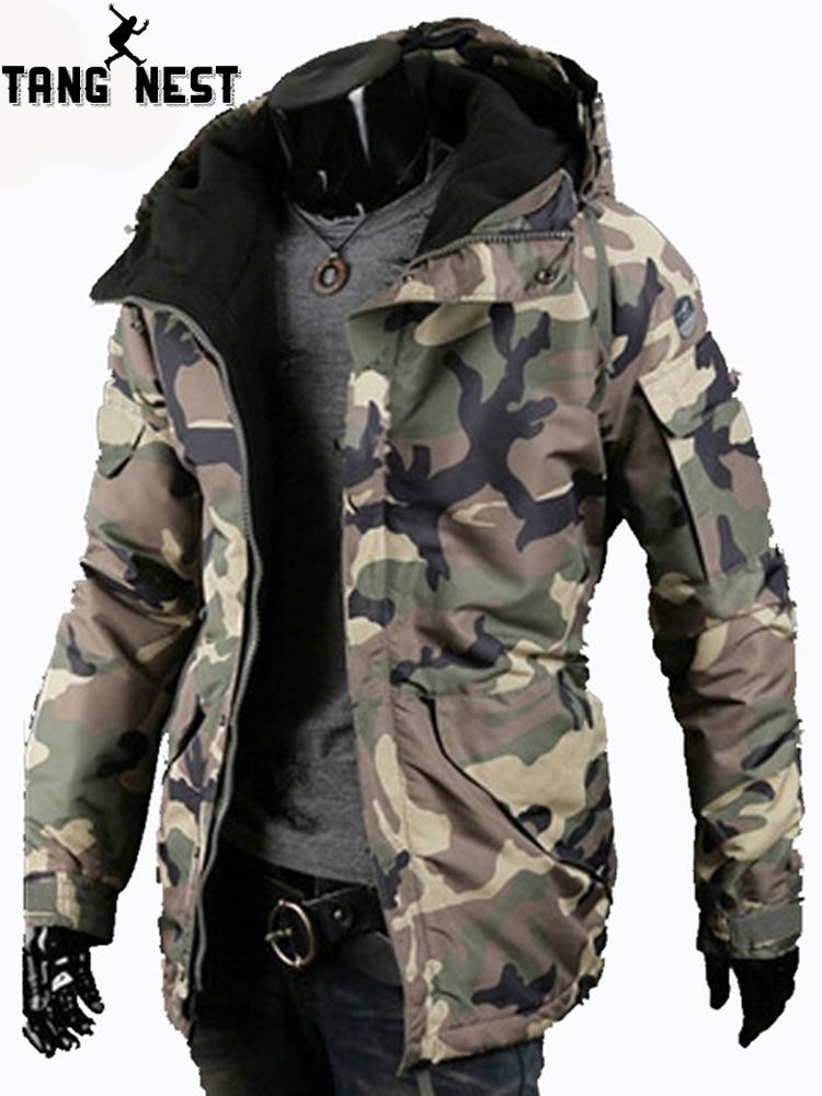 TANGNEST 2019 Winter Men   Parka   Coat Warm Casual Camouflage Hoodie Comfortable Popular Men Thick Coat MWM1902