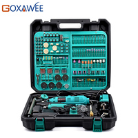 GOXAWEE 130W Dremel Style Variable Speed Electric Rotary Tool Electric Mini Drill Grinder With 252pcs Accessories