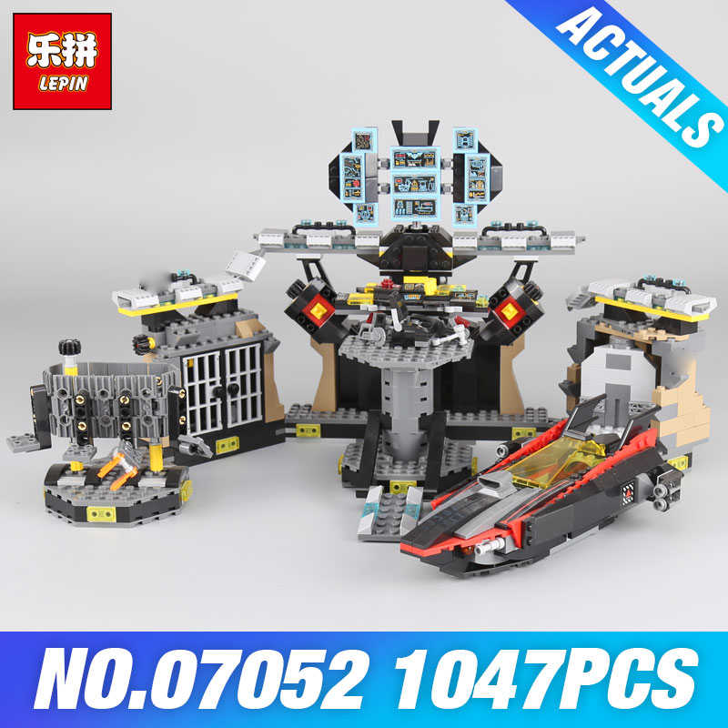 New Stock Lepin 07052  Batcave Break-in Set 1047pcs Genuine model MovieBuilding Blocks Bricks Educational Toys boys girls 70909  цена и фото