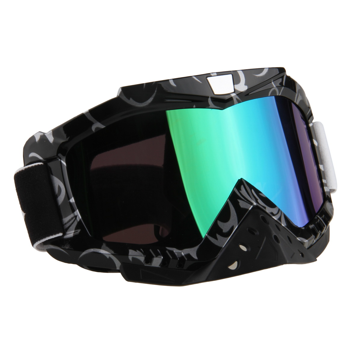 Adult Windproof Motocross Off-Road Cycling Motorcycle Motocross Goggles Black Frame Reflective Lens Glasses Ski Eyewear