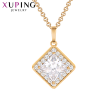 Xuping Fashion Pendant Top Jewelry Rose Gold Color Plated Synthetic CZ Pendants for Women Special Design Charmming Gift