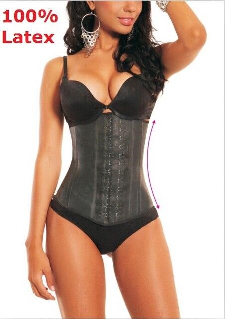 fc809c40bab Top quality 100% latex waist cincher Sport weight loss waist trainer corset brazilian  body shapers latex waist training corsets