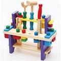 2016 Hot Crianças Baby Puzzle Combinar Conjuntos de Ferramentas Nozes De Madeira Brinquedos Educativos