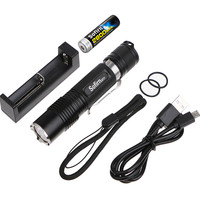 Powerful LED Flashlight 18650 High Power Cree XML2 1000LM Torch Light Pocket Light Penlight Camping,Cycling+18650Battery+Charger