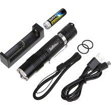 Sofirn SF31 Kiti Güçlü LED el feneri 18650 Yüksek Güç Cree XML2 1000lm taktik fener cep lambası ile pil şarj cihazı