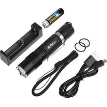 Sofirn sf31 kit poderosa lanterna led 18650 alta potência cree xml2 1000lm tático tocha luz de bolso com carregador de bateria