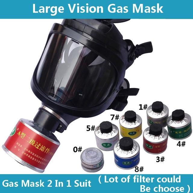 חדש ריסוס Respirator גדול ראיית מלא פנים גז מסכת תעשיית בטיחות עבודה מקצועית הגנת הנשמה מסיכת גז