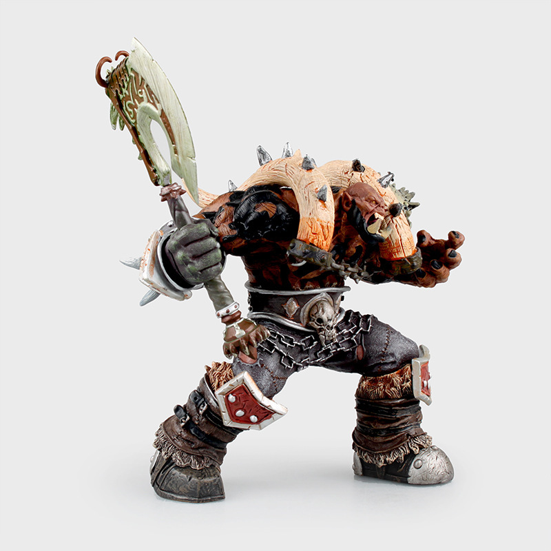 Orc Warrior Garrosh Hellscream Premium Series 3 PVC Action Figure Collectible Model Toy Doll 19cm KT2979 dc wow thrall the orc shamman action figure toys thrall the orc shamman doll pvc acgn figure collectible model toy brinquedos