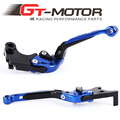 GT Motor - FR25/R3 Adjustable CNC 3D Extendable Folding Brake Clutch Levers For Yamaha R3