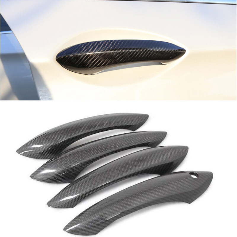 High quality 100 real carbon fiber Auto outer door handle cover for BMW F10 F11 F06