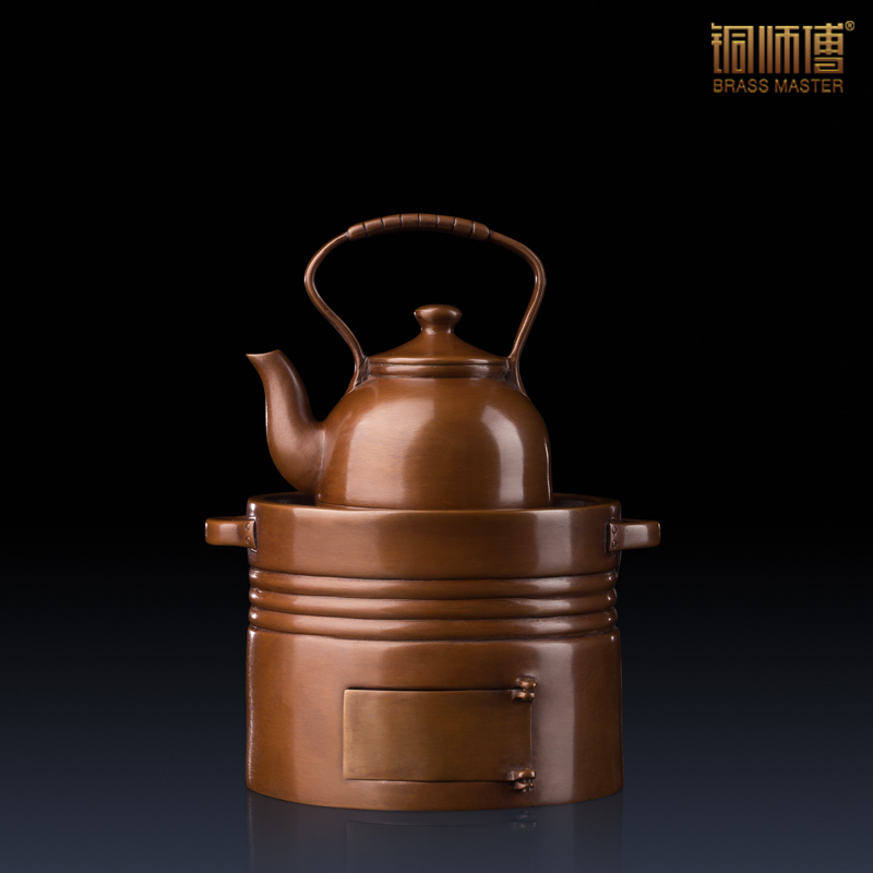 Brass Master Brand Chinese Copper Craft Incense Burner with Teapot Cover Vintage Temple Censer Ornaments Exquisite Business Gift