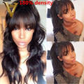 180% Full Lace Wigs Human Long Hair Wigs Body Wave Virgin Human Hair Lace Front Wigs With Baby Hair #1 #1B #2 #4 For Black Women